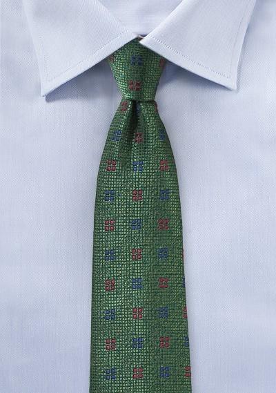 Dark Hunter Green Textured Mens Tie