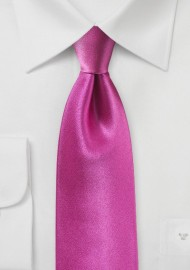 Solid Tie in Very Berry
