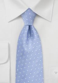 Soft Blue Polka Dot Tie in XL