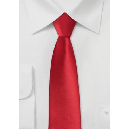 Bright Red Skinny Tie