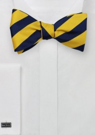 Striped Bow Tie in Yellow and Blue