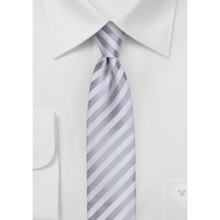 Silver Stripe Skinny Tie