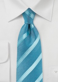 Pool Striped Summer Silk Tie