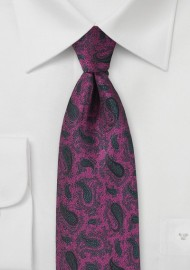Paisley Tie in Boysenberry Pink