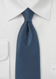 Whaled Striped Tie in Blue
