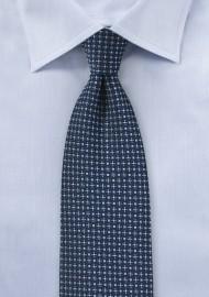 Navy and Light Blue Geometric Tie