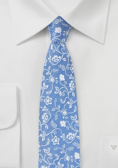 Sky Blue Summer Cotton Tie
