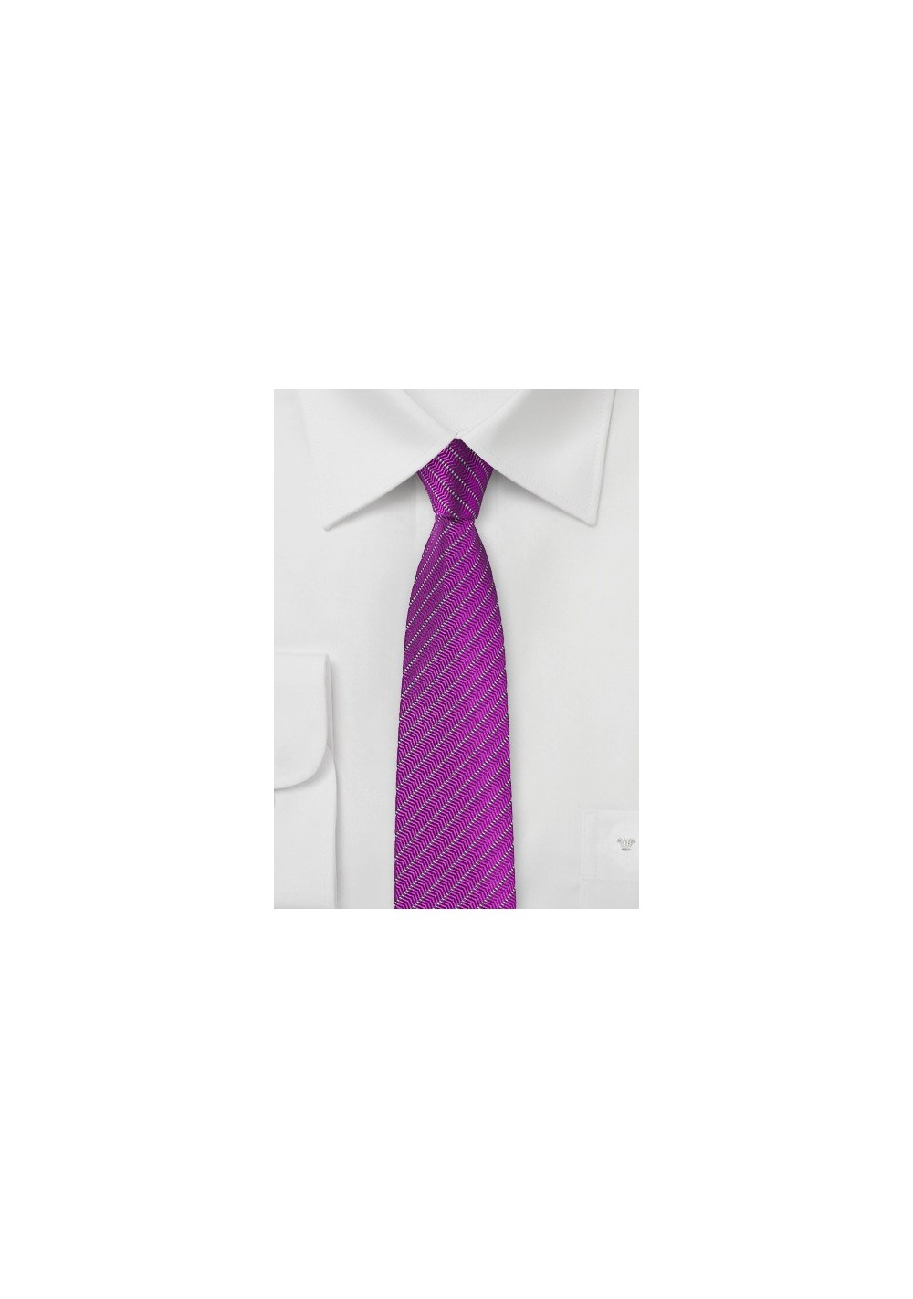 Skinny Tie in Vivid Viola