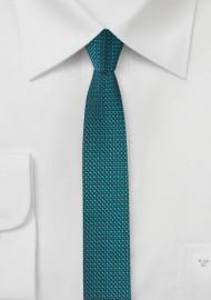 Coral Blue Super Skinny Tie