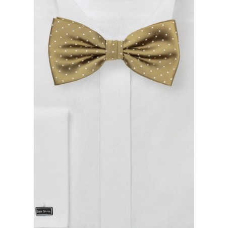 Buddha Gold Polka Dot Bow Tie
