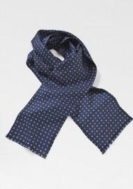 Elegant Foulard Print Silk Scarf