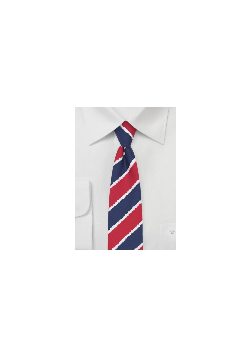 Summer Striped Cotton Tie in Skinny Cut