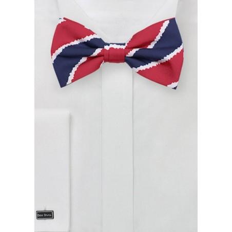 Patriotic Bowtie in Printed Cotton Fabric