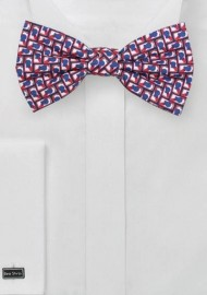 Beer Can Print Bowtie