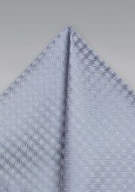 Silver Gingham Pocket Square