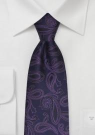 Eggplant Purple Paisley Tie