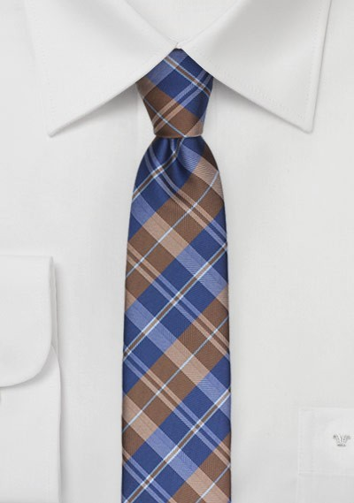 Tartan Plaids in Navy and Brown