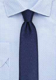 Textured Woven Skinny Tie in Sapphire