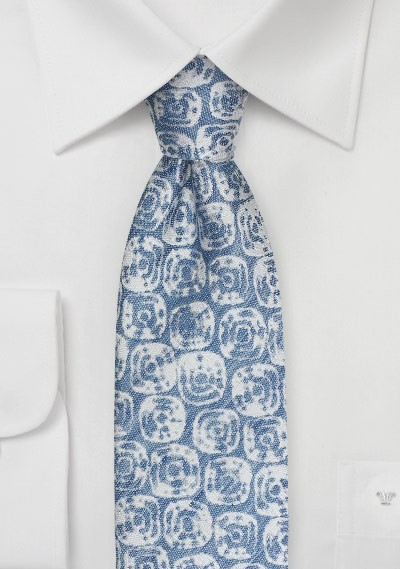 Linen Summer Tie in French Blue