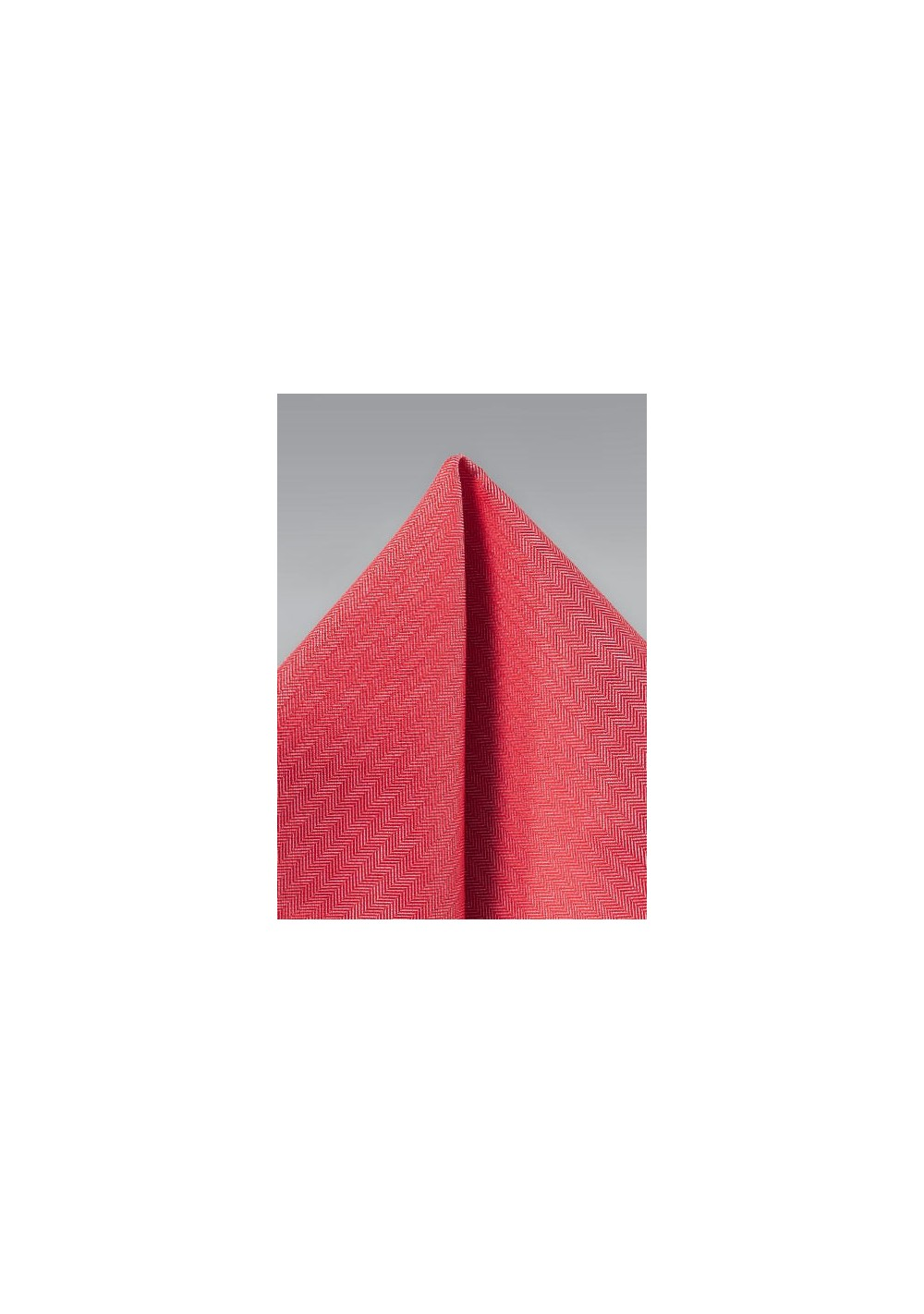 Herringbone Pocket Square in Valentine Red