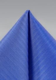 Marine Blue Textured Hanky