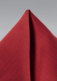 Cherry Red Hued Mens Pocket Square