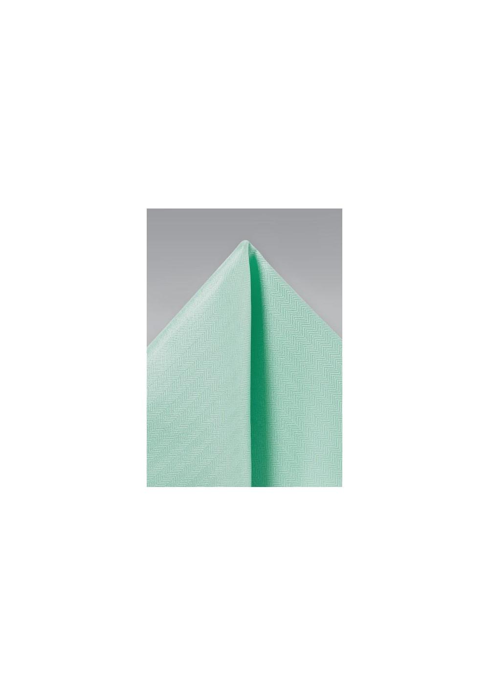 Mint Hued Pocket Square
