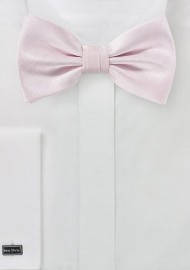 Herringbone Texture Bow Tie in Blush