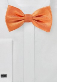 Herringbone Bowtie in Tangerine