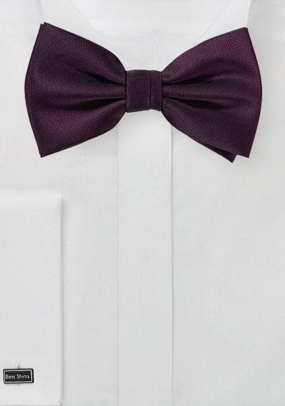 Grape Colored Mens Bow Tie