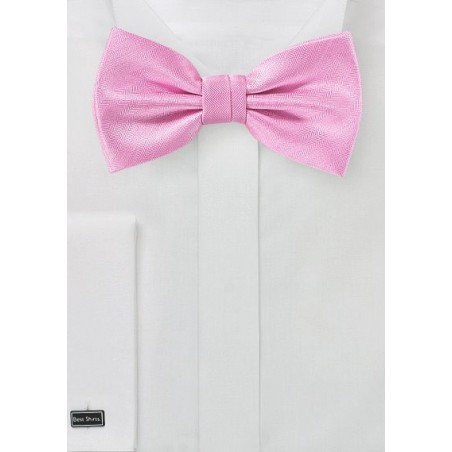 Youth Microfiber Neck Tie Carnation Pink