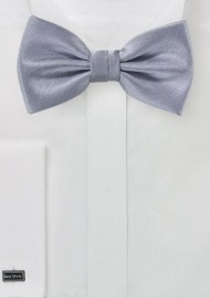 Men's Bow Tie in Silver with Matte Texture
