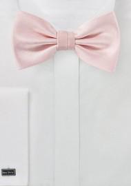 Peach Blush Herringbone Bowtie