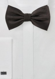 Dark Coco Brown Bow Tie