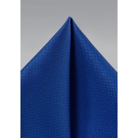 Bright Blue Textured Hanky