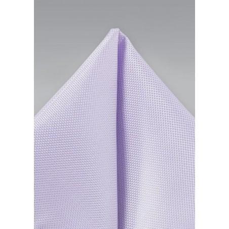 Pastel Lavender Textured Pocket Square