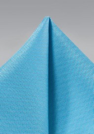 Textured Turquoise Blue Pocket Square