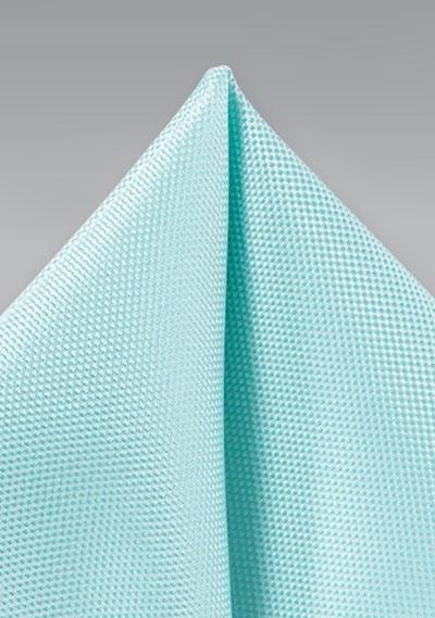 Pool Blue Solid Matte Pocket Square