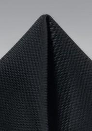 Matte Black Textured Pocket Square