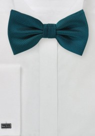 Matte Finish Bow Tie in Peacock