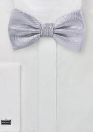 Matte Texture Bow Tie in Silver