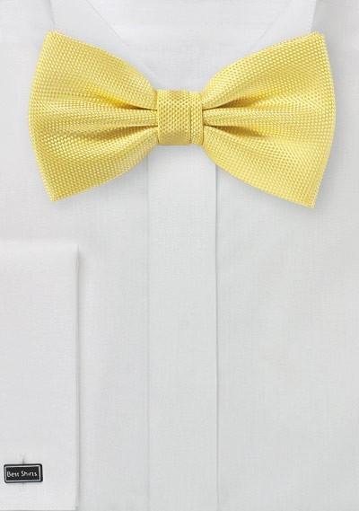 Sun Yellow Matte Texture Bow Tie