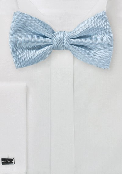 Matte Finish Bowtie in Powder Blue