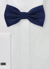 Classic Navy Matte Finish Bow Tie
