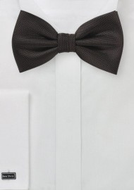 Dark Brown Matte Woven Bow Tie