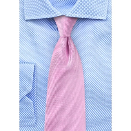 Bright Carnation Pink Mens Tie
