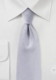 Classic Silver Matte Finish Tie