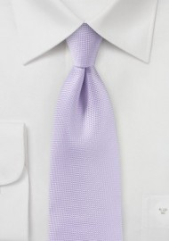 Microtexture Tie in Light Lavender