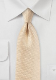 Textured Tie in Peach Apricot