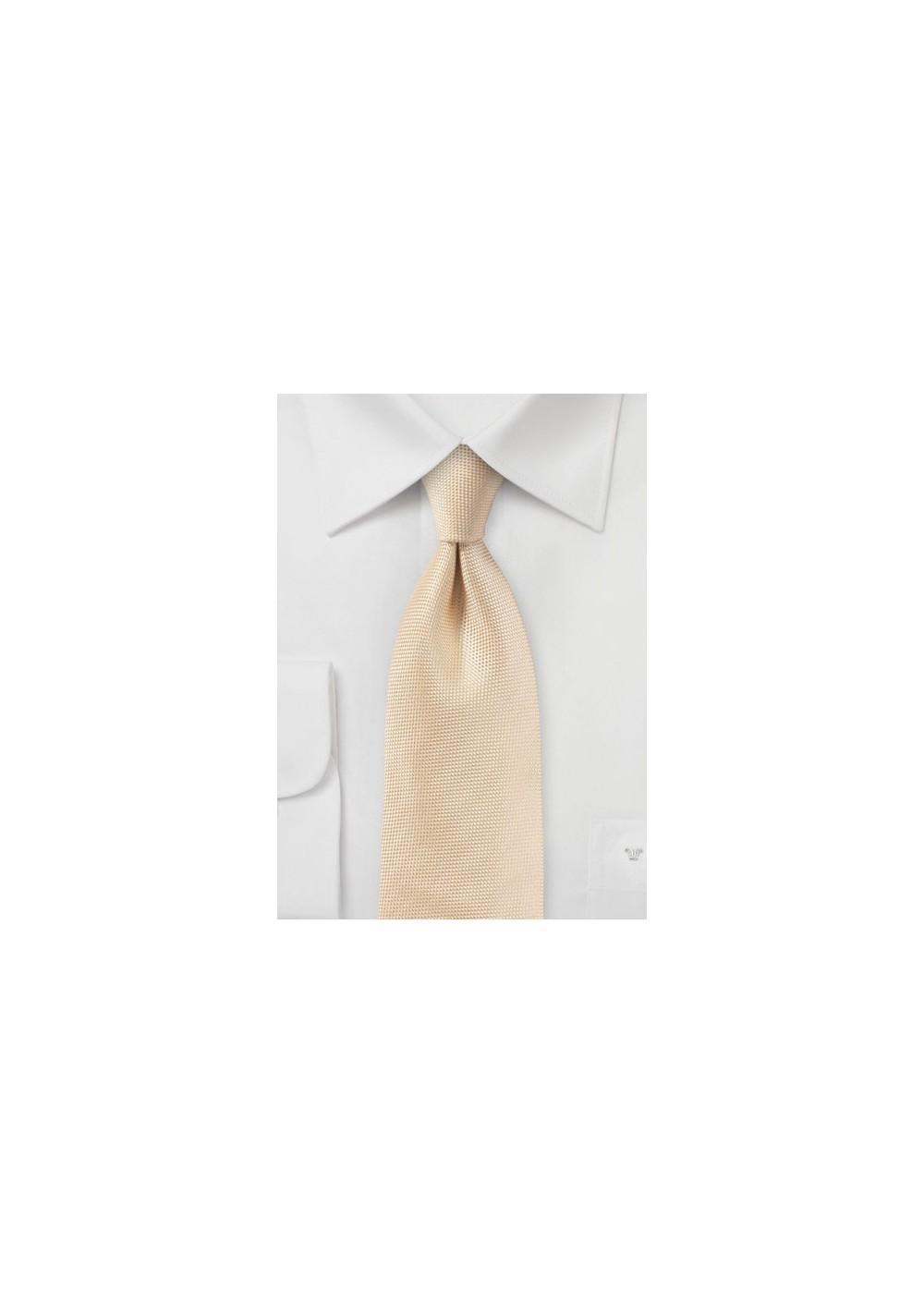 Textured Tie in Peach Apricot